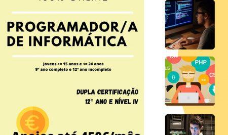 Inscrições Abertas – Ano letivo 2021-22 – Aprendigem – Curso Programador/a de Informática